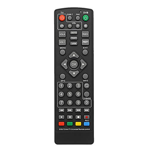 docooler Mando a Distancia Universal DVB-T2, decodificador, Mando a Distancia Inalámbrico Smart TV sustitución STB para HDTV Smart TV Box Black