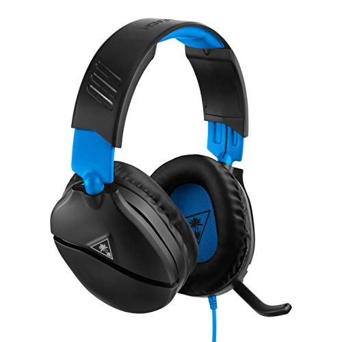 Turtle Beach Recon 70P Auriculares Gaming PS4, PS5, Xbox One, Nintendo Switch y PC, Negro/Azul