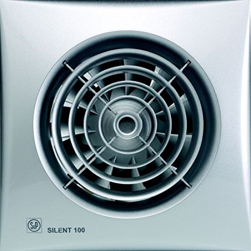 S & p silent-100 - Extractor bano silent100-silver-cz 8w 2100rpm