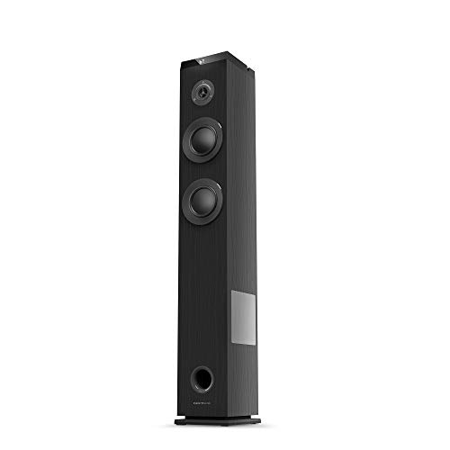 Energy Sistem Tower 5 g2 Ebony (65 W, Bluetooth 5.0, True Wireless Stereo, Radio FM, USB/MicroSD MP3 Player, Audio-In)-Negro