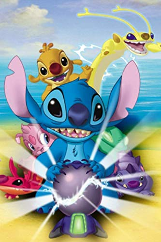 Composition Notebook: Lilo et Stitch Vol. 12 Anime Cartoon Journal/Notebook College Ruled 6x9 inches, 120 pages