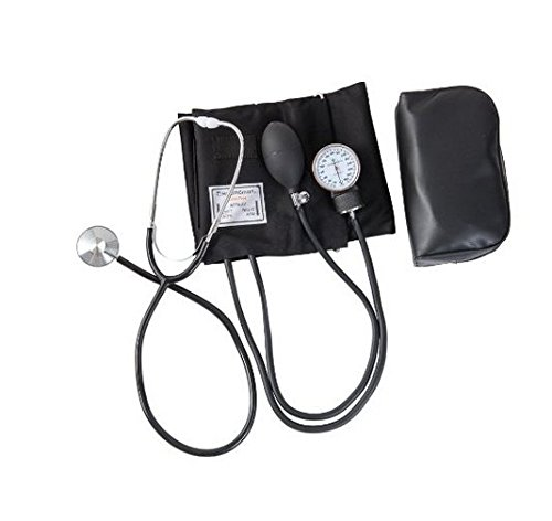 Hensych Home Blood Pressure Cuff Kit with Manual Sphygmomanometer Stethoscope and Carrying Case