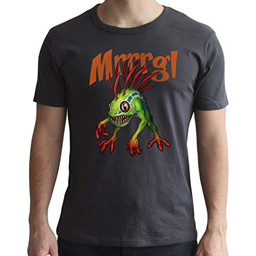 ABYstyle World of Warcraft-Camiseta Murloc-Hombre SS Gris Oscuro-Nuevo Ajuste, Color Multicolor, Small (Abysse Corp_ABYTEX49073)