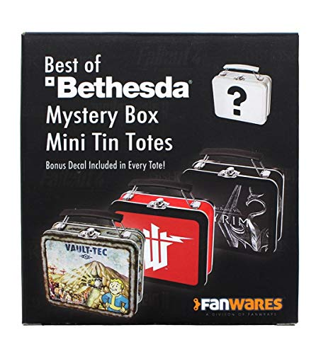 toynk Bethesda Games Mystery Tin Mini Tote Lunchbox-Style Container  One Random Tote